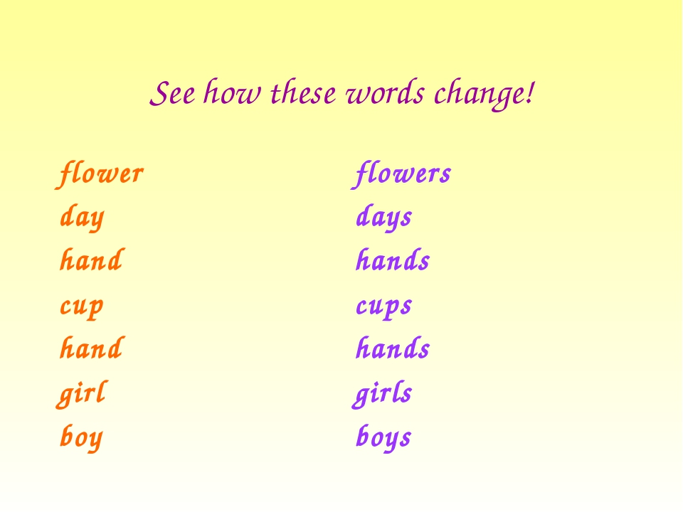 See how these words change! flower day hand cup hand girl boy flowers days ha...