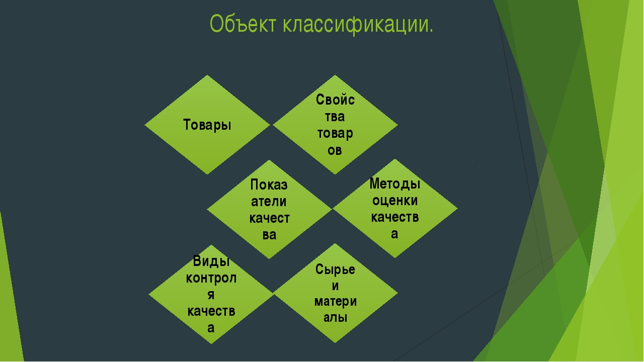 Объект классификации.