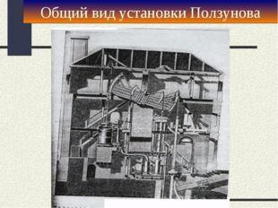 Общий вид установки Ползунова
