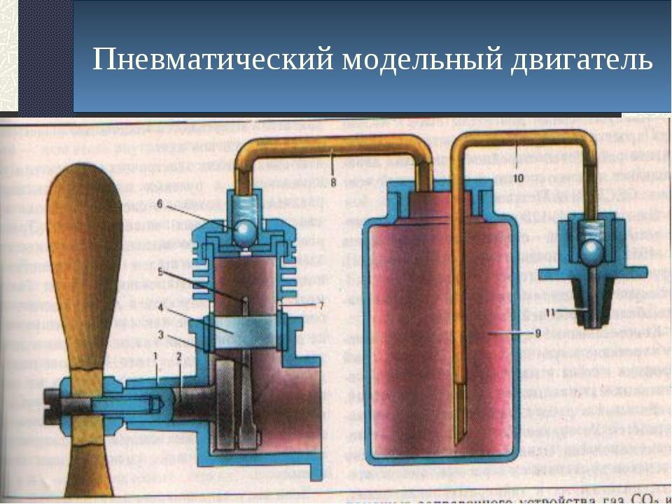 Пневматический модельный двигатель