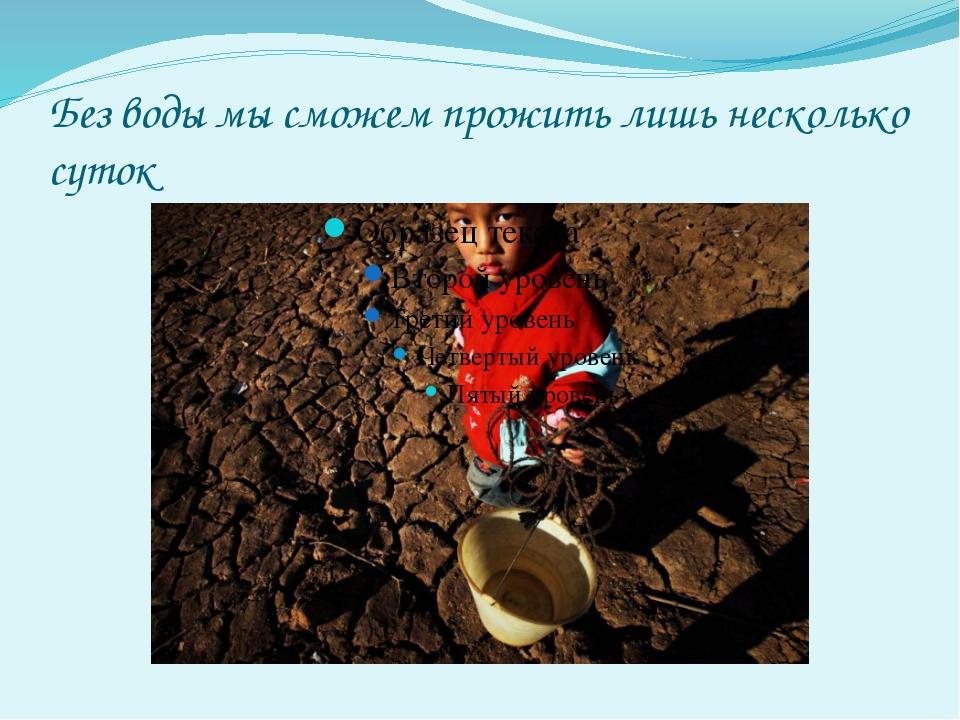 Вода – источник жизни для всего на Земле.