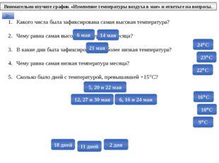Какого числа была зафиксирована самая высокая температура? Чему равна самая в
