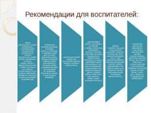 Рекомендации для воспитателей: