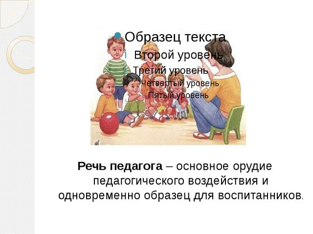 Речь педагога – основное орудие педагогического воздействия и одновременно об...