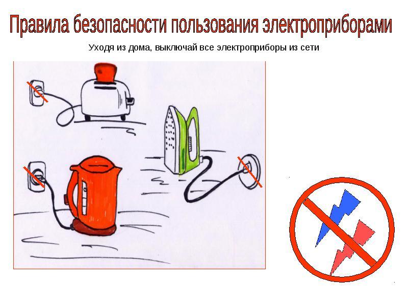 правила пользования электроприборами в картинках ними правильно