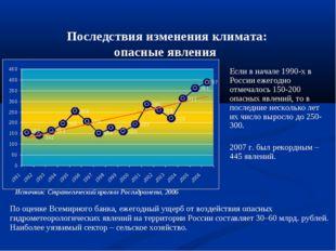 Последствия изменения климата: опасные явления Если в начале 1990-х в России