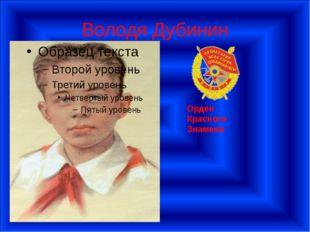 Володя Дубинин Орден Красного Знамени