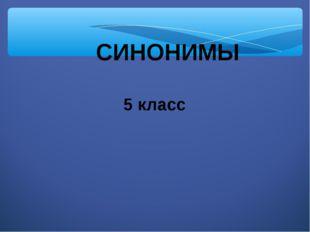 СИНОНИМЫ 5 класс