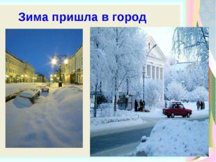 Зима пришла в город