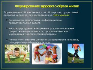 Формирование здорового образа жизни Социальном: пропаганда, информационно-про