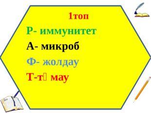 1топ Р- иммунитет А- микроб Ф- жолдау Т-тұмау