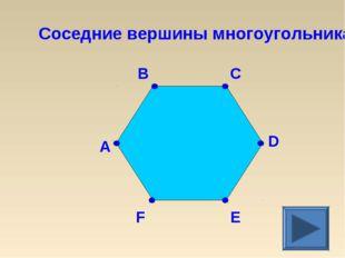 Соседние вершины многоугольника C B