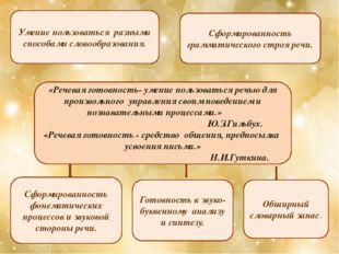 «Речевая готовность- умение пользоваться речью для произвольного управления с