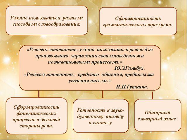 «Речевая готовность- умение пользоваться речью для произвольного управления с...