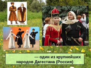 Дарги́нцы ― один из крупнейших народов Дагестана (Россия)