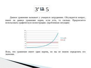 Данное уравнение вызывает у учащихся затруднение. Обсуждается вопрос, имеет