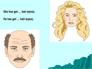 She has got … hair (eyes). He has got … hair (eyes).