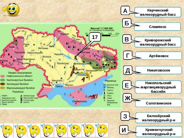 Керченский железорудный басс Славянск Криворожский железорудный басс Артёмовс...