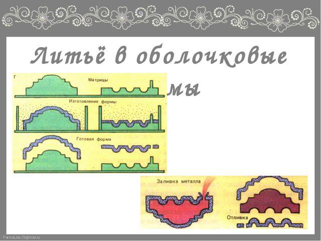 Литьё в оболочковые формы FokinaLida.75@mail.ru