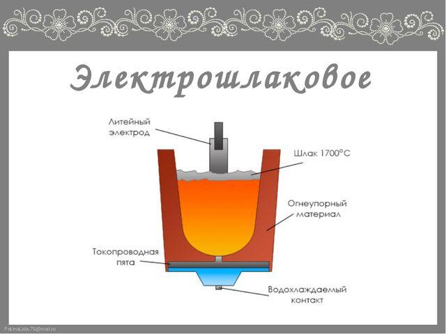 Электрошлаковое литьё FokinaLida.75@mail.ru
