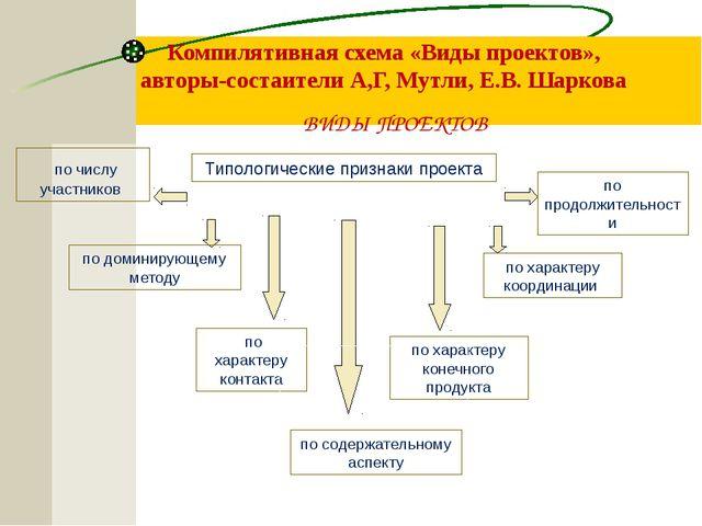 Компилятивная схема «Виды проектов», авторы-состаители А,Г, Мутли, Е.В. Шарк...