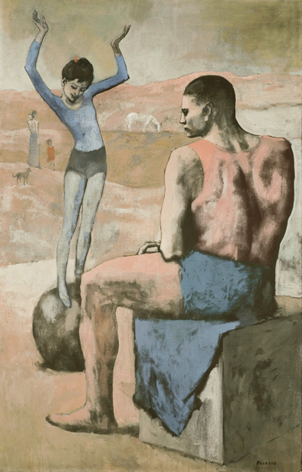 Картина Пабло Пикассо. Девочка на шаре. 1905