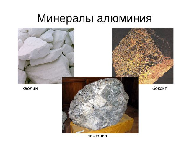 Минералы алюминия каолин боксит нефелин