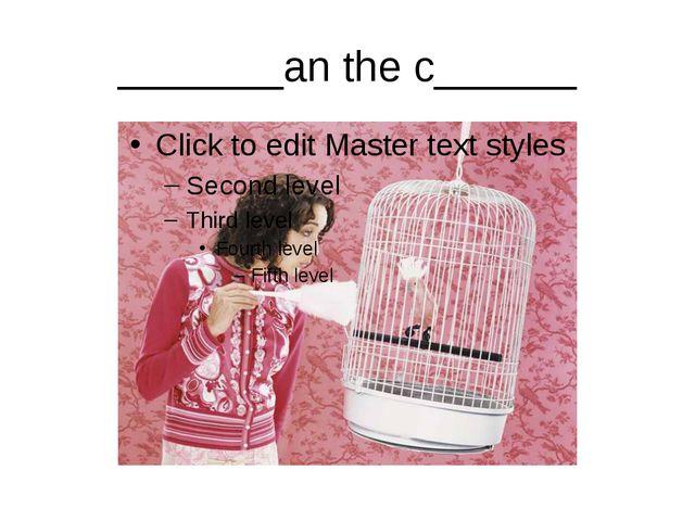 _______an the c______