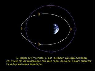 Орбита Луны. Фазы Луны. Ай жерді 29,5 тәулікте 1 рет айналып шығады.Ол жерді