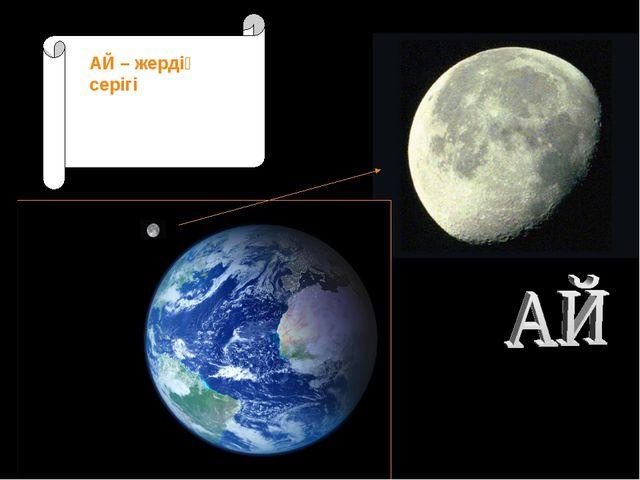Луна – естественный спутник Земли АЙ – жердің серігі
