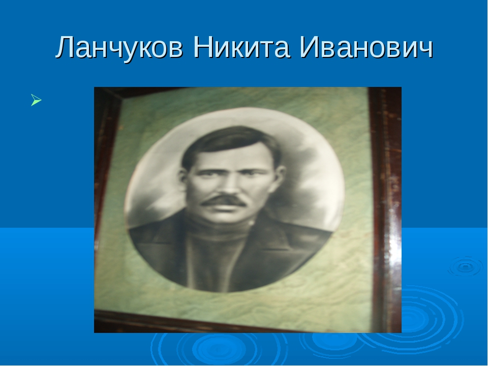 Ланчуков Никита Иванович