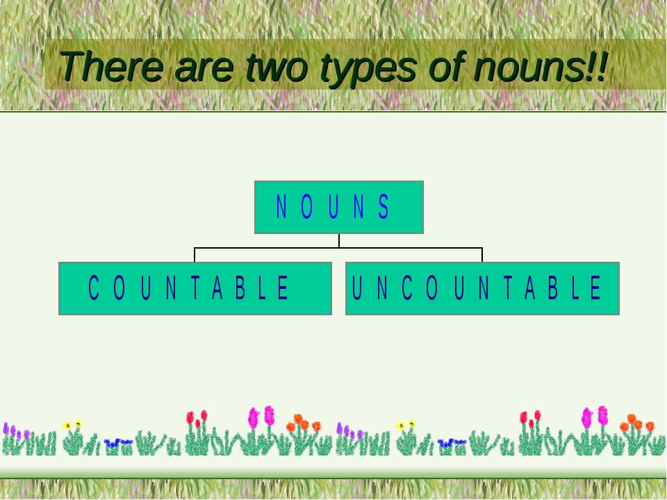 There are two types of nouns!!