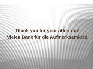 Thank you for your attention! Vielen Dank für die Aufmerksamkeit!