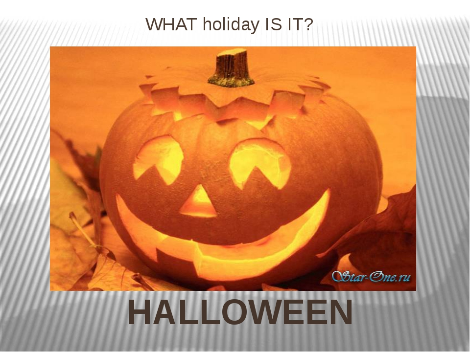 WHAT holiday IS IT? HALLOWEEN