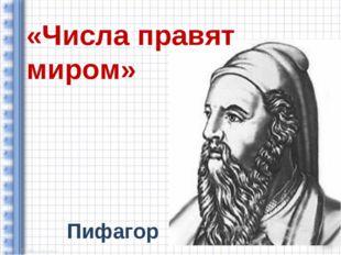 Пифагор «Числа правят миром»