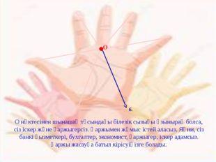 6. О О нүктесінен шынашақ тұсындағы білезік сызығы ұзынырақ болса, сіз іскер