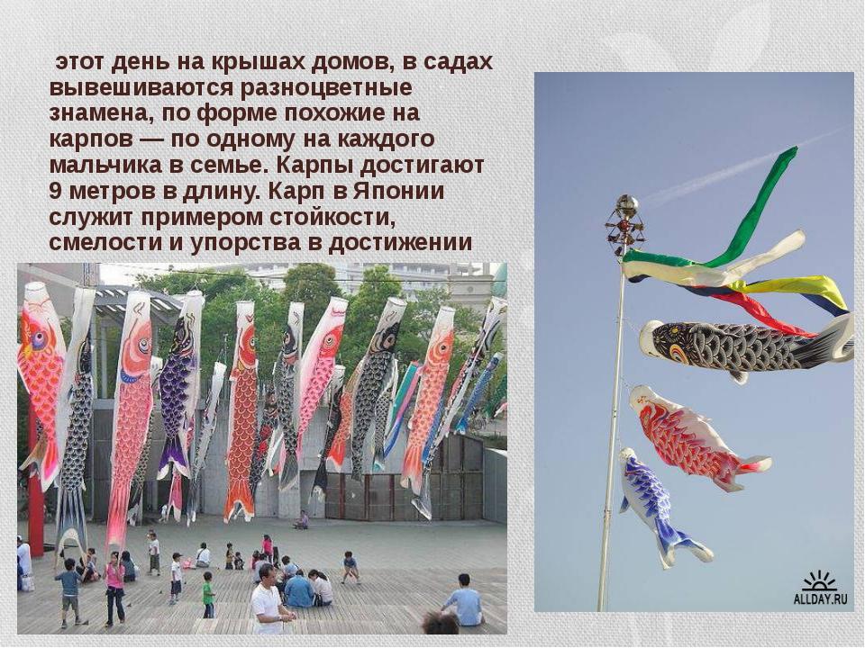 В этот день на крышах домов, в садах вывешиваются разноцветные знамена, по фо...