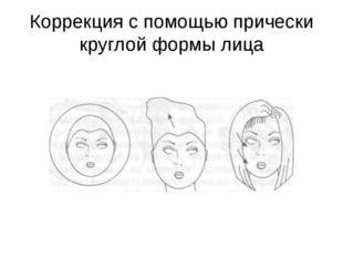 Коррекция с помощью прически круглой формы лица
