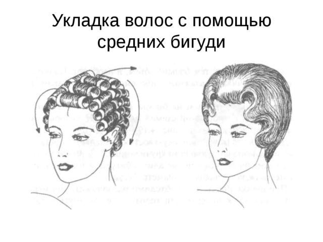 Укладка волос с помощью средних бигуди