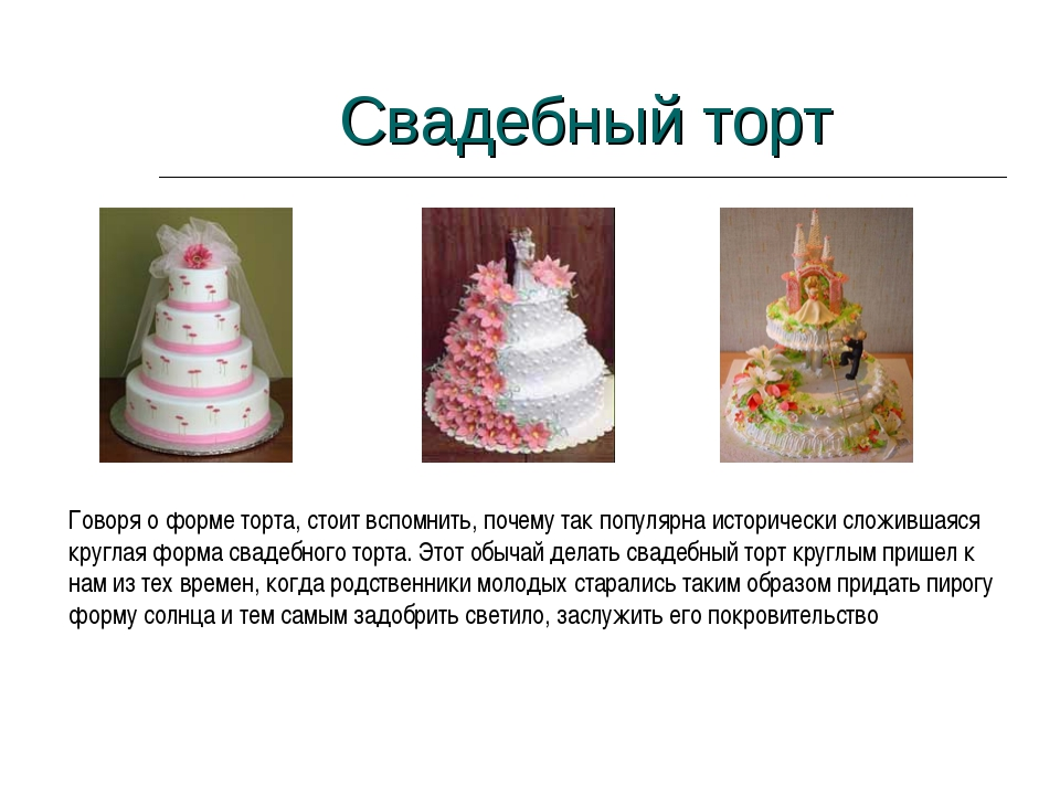 Свадебный торт Говоря о форме торта, стоит вспомнить, почему так популярна ис...