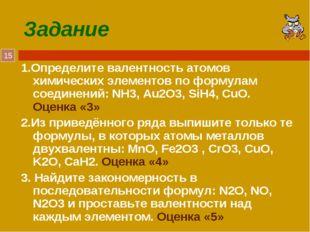 Задание 1.Определите валентность атомов химических элементов по формулам соед