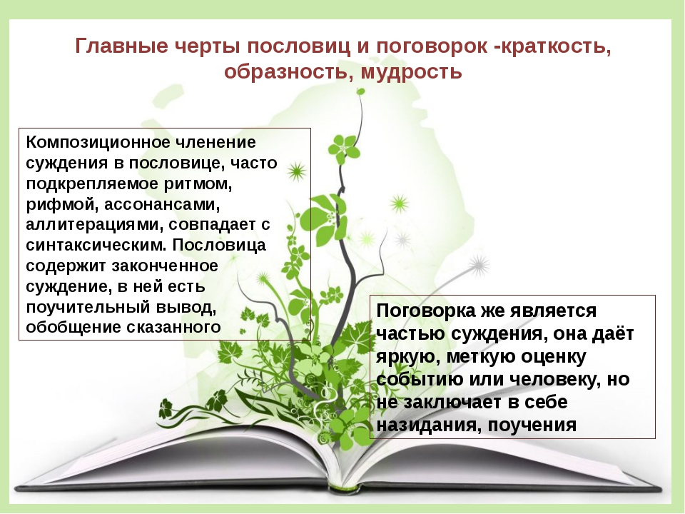Главные черты пословиц и поговорок -краткость, образность, мудрость Композици...