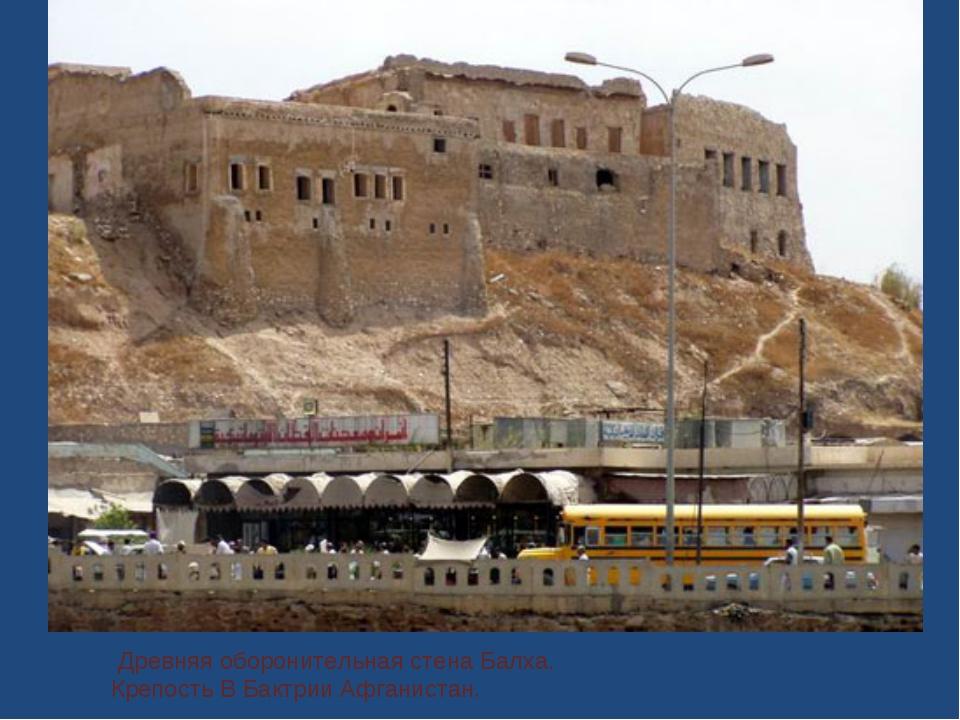 Древняя оборонительная стена Балха. Крепость В Бактрии Афганистан.