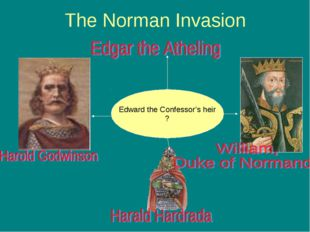 The Norman Invasion Edward the Confessor's heir ?