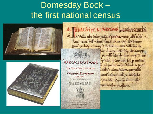 Domesday Book – the first national census