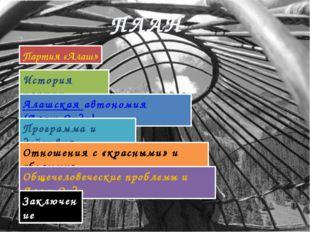Программа и действия I. Образовать территориально-национальную автономию обла