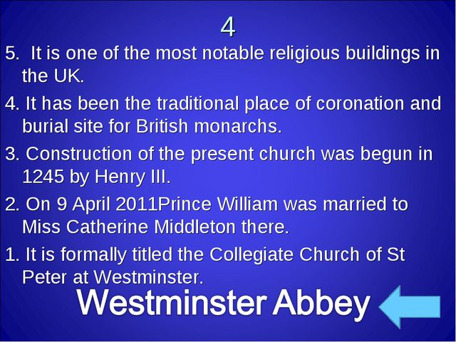 4 5. It is one of the most notable religious buildings in the UK. 4. It has...