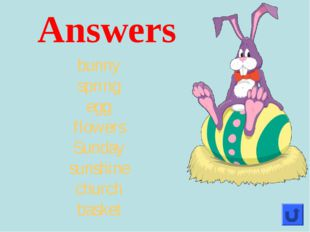 bunny spring egg flowers Sunday sunshine church basket Answers