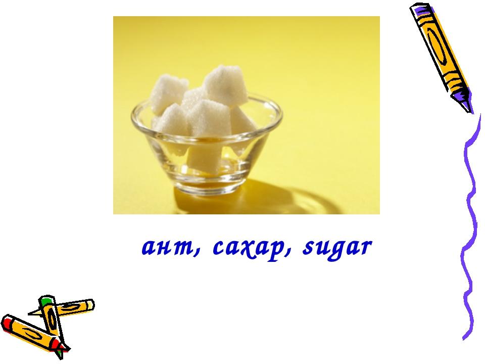 Қант, сахар, sugar