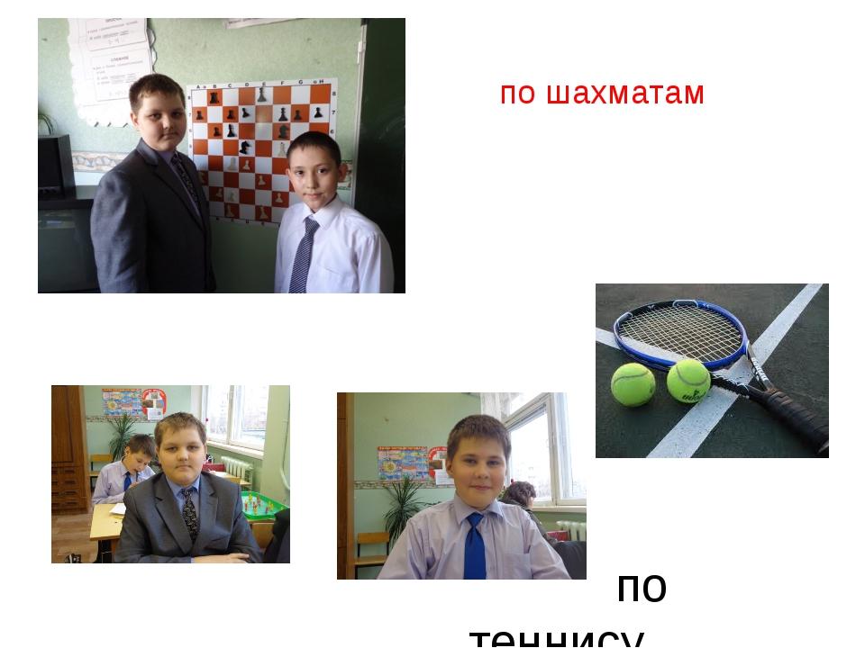 по шахматам по теннису
